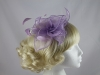 Lavendar Organza Fascinator